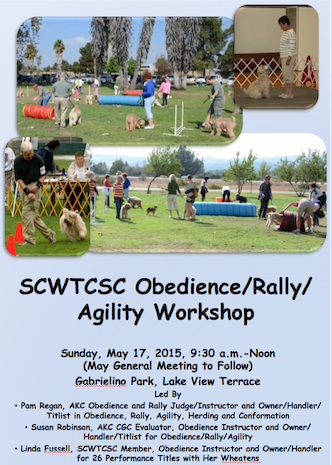 Scwtcsc obedience rally agility workshop for 11127 orcas ave lakeview terrace ca 91342