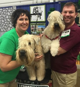 Laura & Conrad Virant with their Wheatens Winston & Sophie