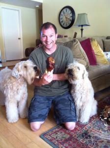 Conrad Virant with Wheatens Sophie & Winston