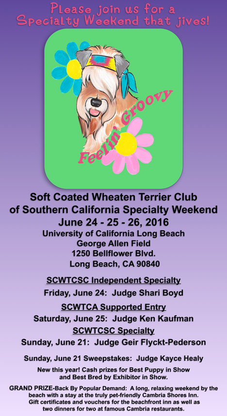 SCWTCSCC Specialty Weekend June 24 - 25 - 26, 2016 postcard