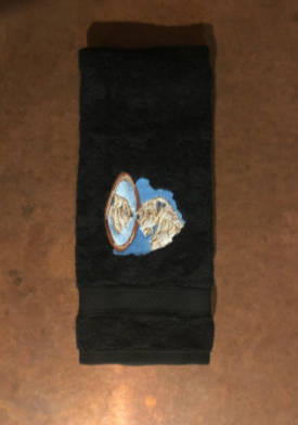 Perfect Vision hand towels in black from Soft Coated Wheaten Terrier Club of Southern California