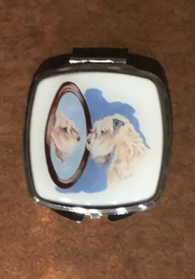Mirror compact from Soft Coated Wheaten Terrier Club of Southern California